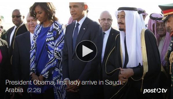 Michelle Obama in Saudi Arabia for blog post Jan 30 2015